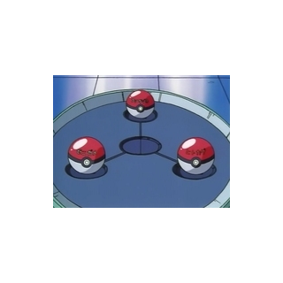 Poké Balls de los Pokémon iniciales.