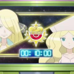 Batalla de exhibición (Cynthia/Cintia vs. Caitlin/Catleya).