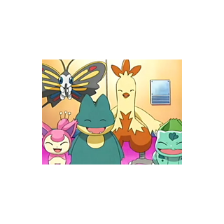 Bulbasaur junto a todo el equipo de <a href=