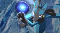 TA01 Lucario usando esfera aural