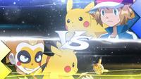 EP918 Serena & Pikachu VS Jimmy & Tongari