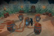 SsA acertijo de barriles