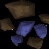Mena de azulito detallada