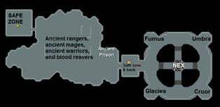 Ancient prison features