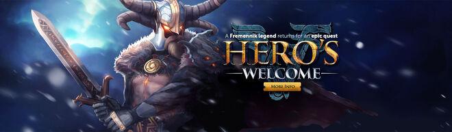 Hero's Welcome banner