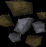Mena de plata detallada