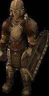 Set armadura bronce (calza) equipado