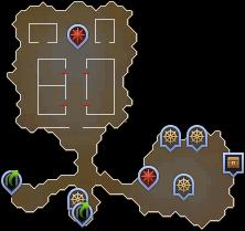 Gruta de los jugadores mapa