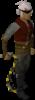 Un jugador con el látigo abisal amarillo