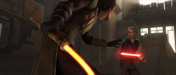 Skywalker vs Dooku on Zygerria