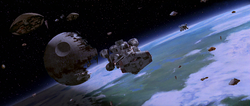 Battle over Endor
