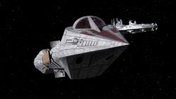 Republic Stealth Ship visible