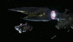 Malevolence targets frigate
