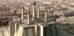 Jedi Temple spires ROTS