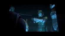 Comandante Doom durante la batalla de Ringovinda