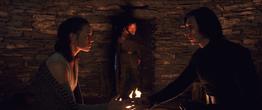 Luke interrupting Rey and Kylo Ren