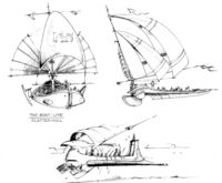 Sail barge Sketchbook