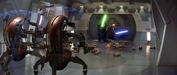 Destroyers attacking Jedi