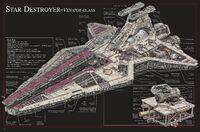 Venator-class Star Destroyer schematic