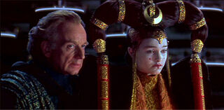 La Reina Amidala en el Senado