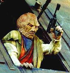Weequay lanzado de la barcaza velera no identificado