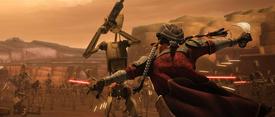 Hondo repeliendo droides