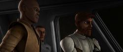 Obi-Wan and Mace Storm Over Ryloth
