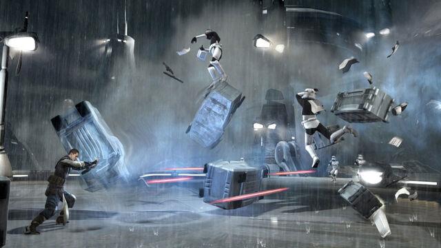 Archivo:Starkiller push stormtroopers.jpg