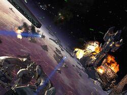 Guerra en la orbita de coruscant