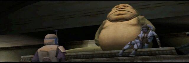 Archivo:Jango habla con Jabba.jpeg