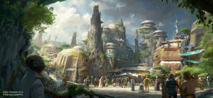 Archivo:Star Wars land view from entrance.jpg