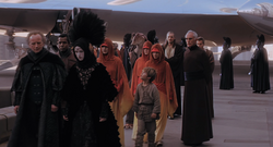 Amidala arrives on Coruscant