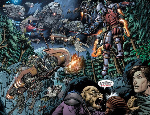 Archivo:Mandalorians invade Vanquo.jpg
