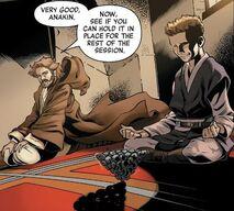 Anakin and Kenobi meditating