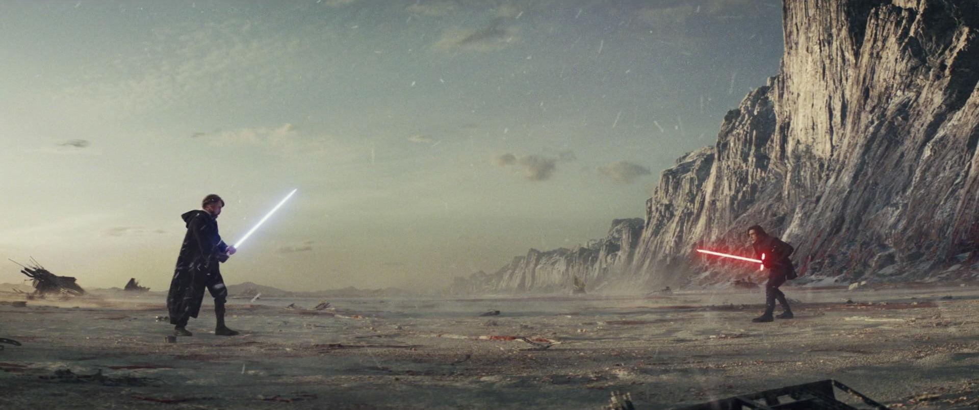 The Last Jedi Luke Skywalker vs Kylo Ren