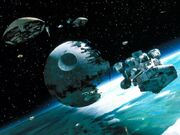 Guerra espacial, sobre Endor
