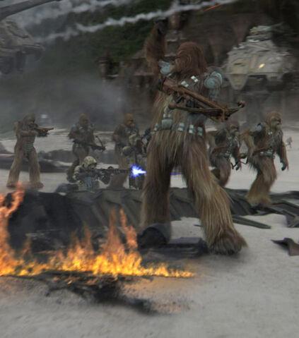 Archivo:Wookie battle.jpg