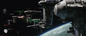 The Last Jedi Space Battle