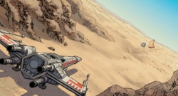 Red Five in the desert