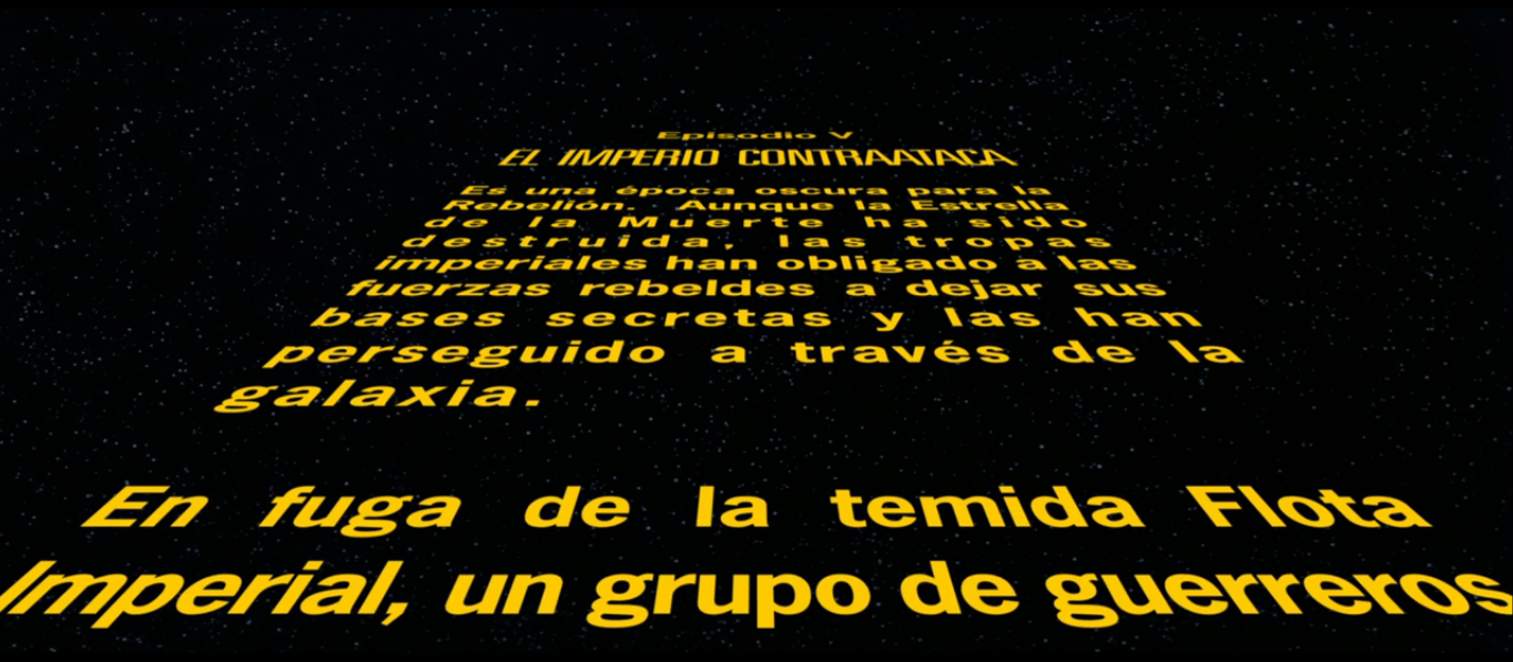 Texto de apertura star wars wiki fandom powered by wikia for En una galaxia muy muy lejana