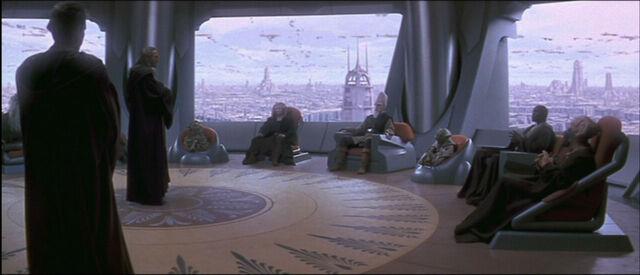 Archivo:Medio día en la Cámara del Consejo Jedi.jpg