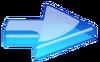 Blue Glass Arrow