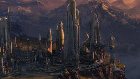 Ciudad Aldera en Alderaan
