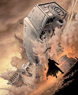 Vader kills the walker