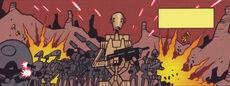 Lone battle droid battling