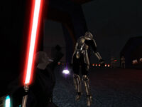 Jedi Exiliado aniquilando con la Fuerza