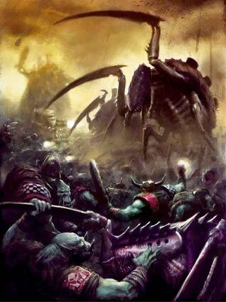 Orkos vs tiranidos batalla