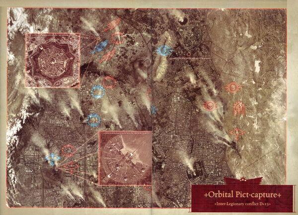 Posiciones Leales y Traidores Ciudad Coral Istvaan III
