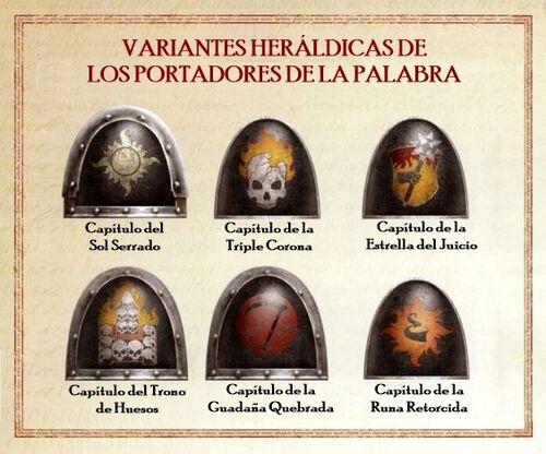 Caos simbolo portadores palabra heraldica