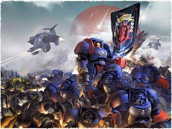 Exterminadores Puños Carmesíes vs Legión Negra